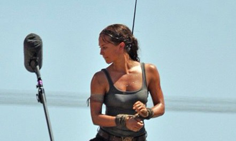 Set Photos Reveal Alicia Vikander As Lara Croft In Tomb Raider Reboot