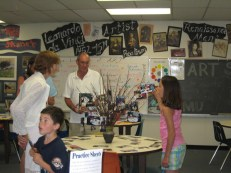 Open House in the art room.