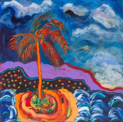 """Palm Tree"" Acrylics on canvas24"" H x 24"" W x 1.5"" D"