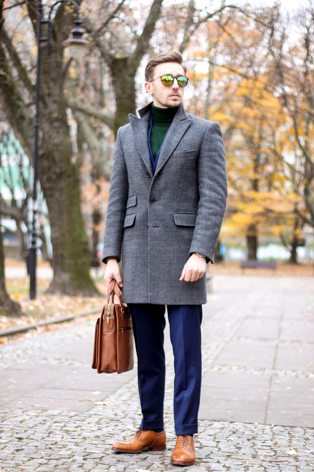 ciepły płaszcz