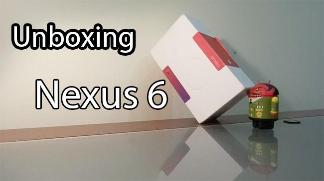 Nexus 6 unboxing
