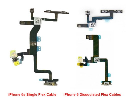 Comparison-of-a-flex-cable-used-in-the-current-iPhone-6-to-one-that-will-be-employed-by-the-iPhone-6s.-Note-the-True-Tone-flash-on-the-left-of-the-cables.jpg