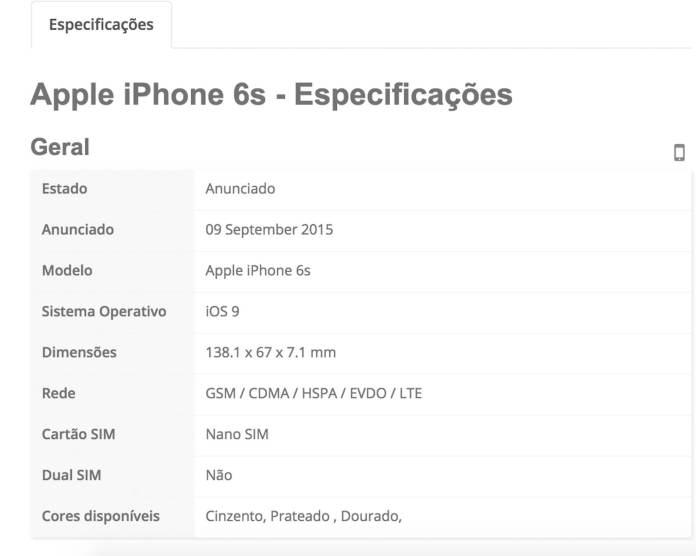 iPhone specs 4