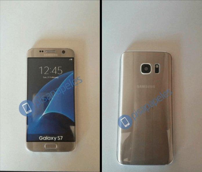 Nova foto do Galaxy S7 em Dourado