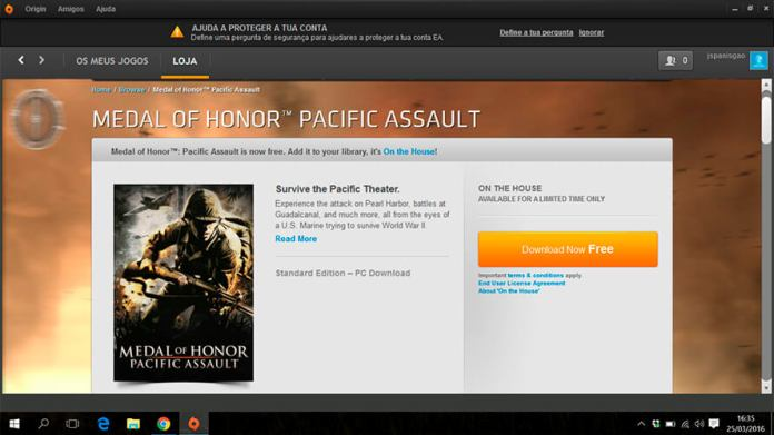 Medal Of Honor Gratis na ORIGIN - 4gnews.pt