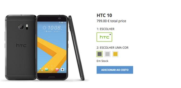 HTC 10 preço