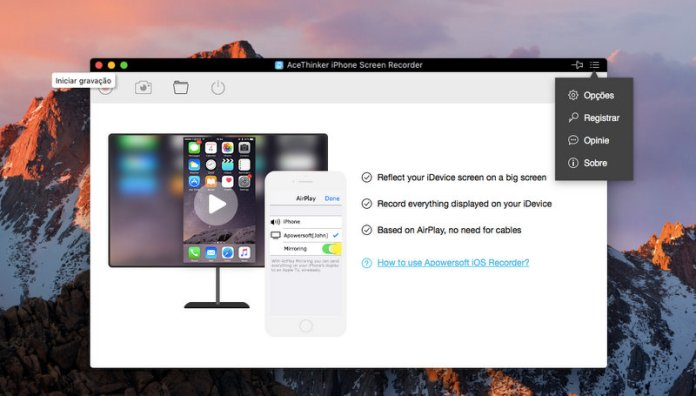 Acethinker Screen Recorder iPhone