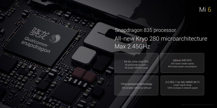 Xiaomi Mi6 Qualcomm Snapdragon