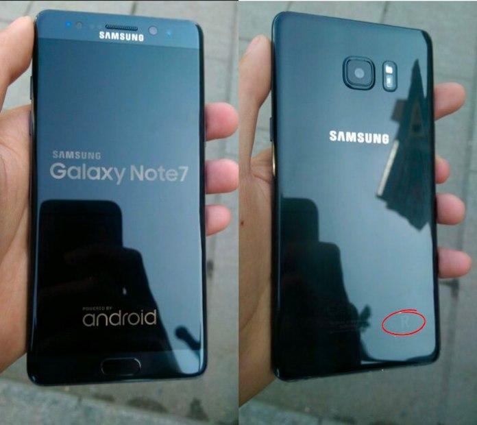 Alegado Samsung Galaxy Note 7R