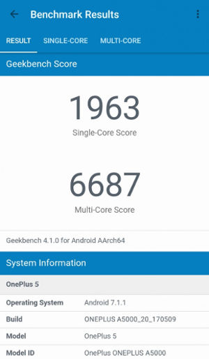 OnePlus 5 - Geekbench