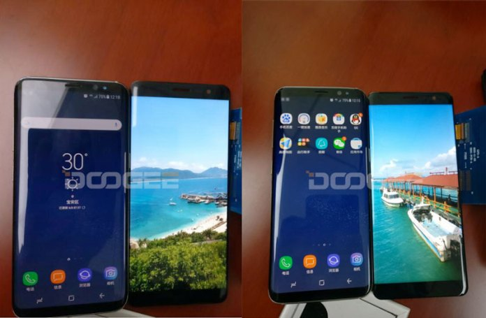 Doogee Mix Plus ao lado do Samsung Galaxy S8