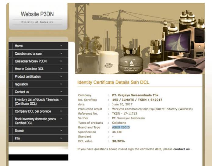 Asus Zenfone 4 Max certificado
