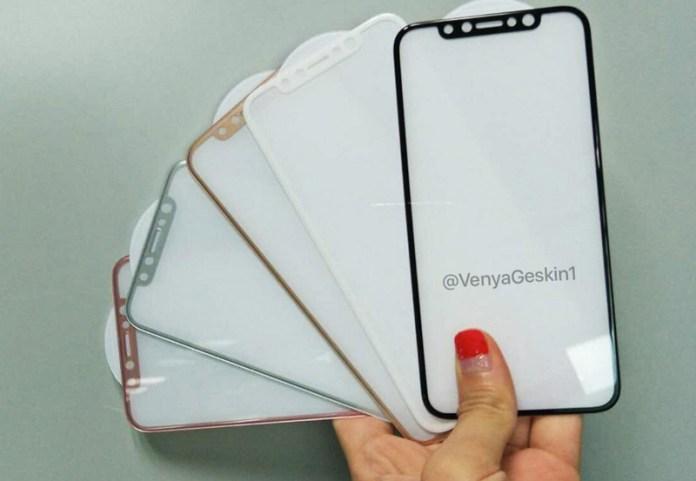 Alegados ecrãs do iPhone 8