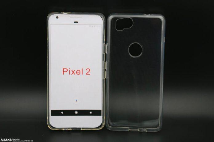 Alegada capa do Google Pixel 2