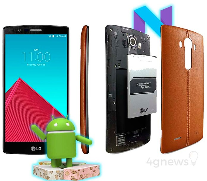 LG G4 Android Nougat smartphone