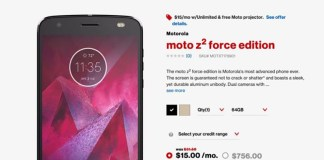 Motorola Moto Z2 Force Verizon