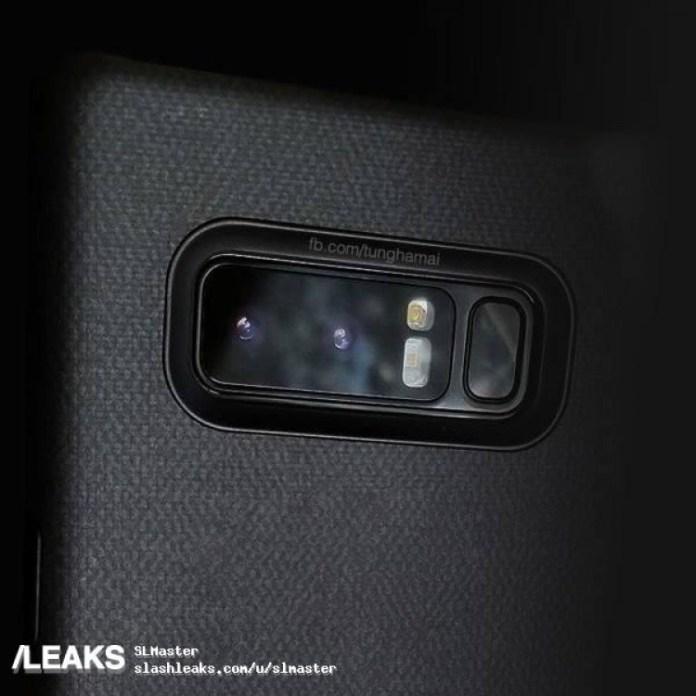 Será assim a Dual-Câmara do Samsung Galaxy Note 8? Imagem: Slashleaks