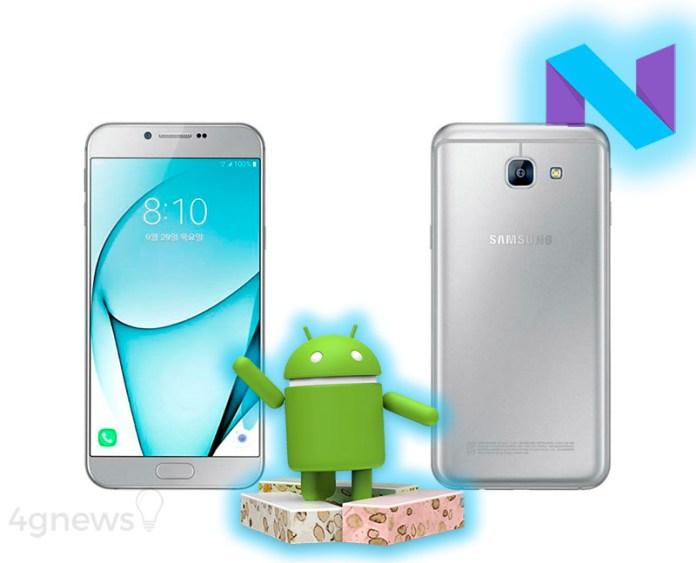 Samsung Galaxy A8 2016 Android Nougat