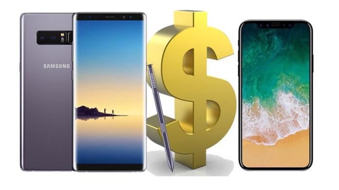 Preço do Galaxy Note8 é presságio do valor do iPhone 8?