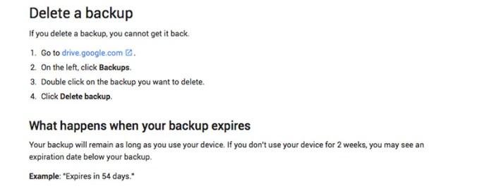 Android Google smartphone backup 1