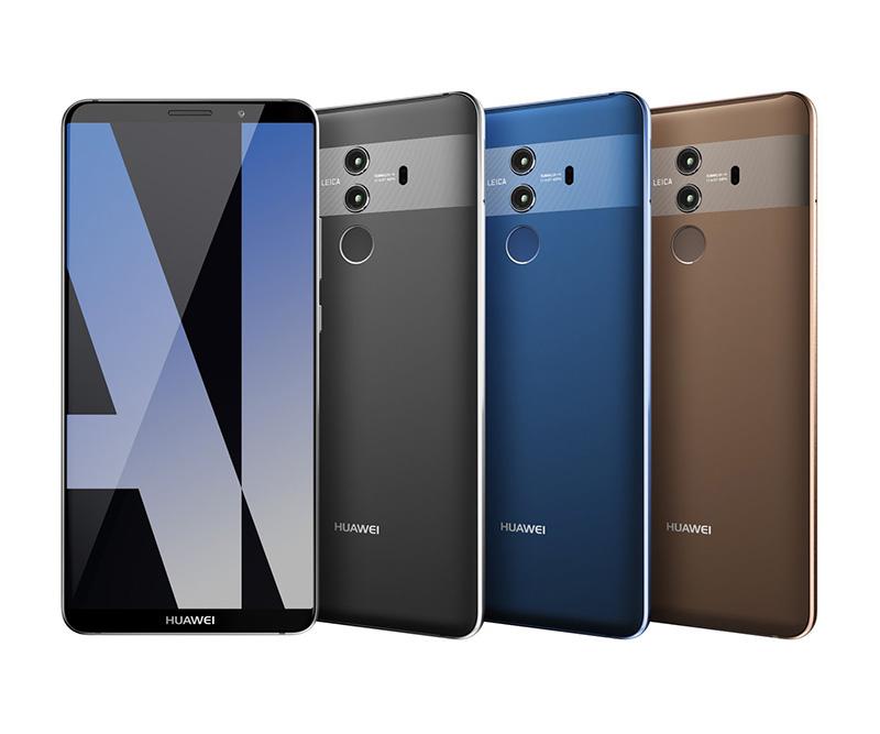 Huawei mate 10 pro smartphone fotografado nas m os de for Housse huawei mate 10 pro