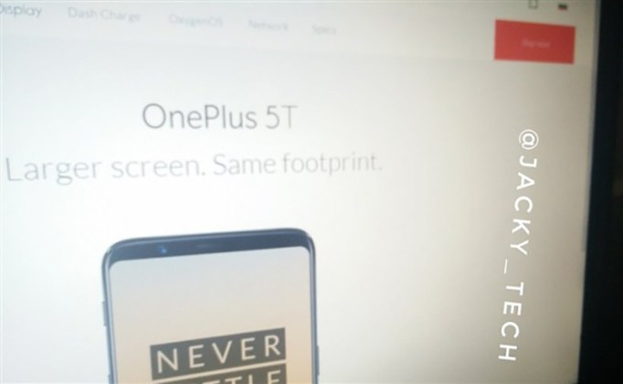 OnePlus 5T site oficial