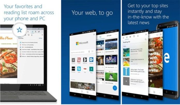 Google Play Store Microsoft Edge