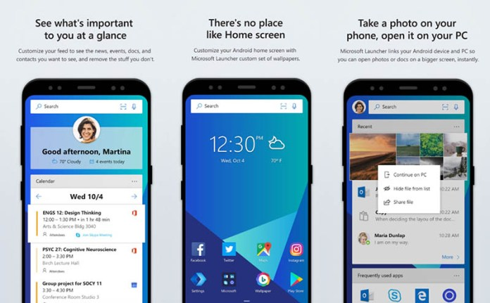 Microsoft Launcher Android Google Play Store