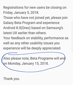 Samsung Galaxy S8 Android Oreo 8.0