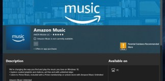 Amazon Music Microsoft Windows 10