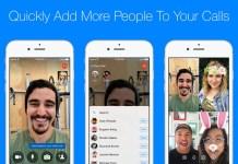 Facebook Messenger chamadas de grupo