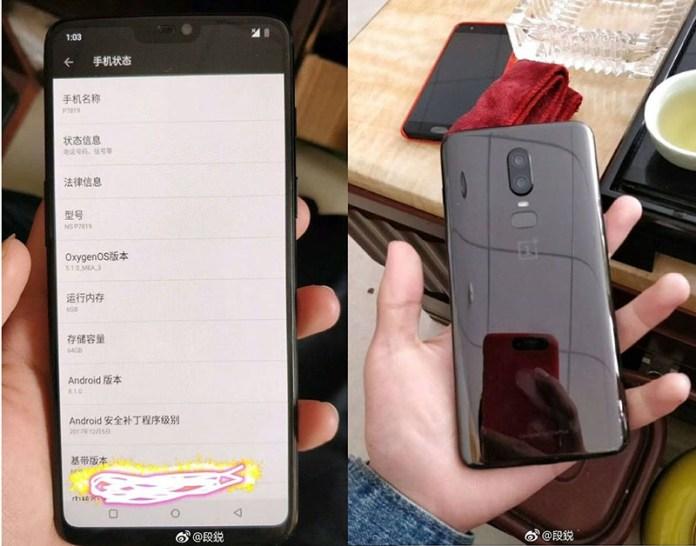 Xiaomi Mi MIX 2S OnePlus 6 Android