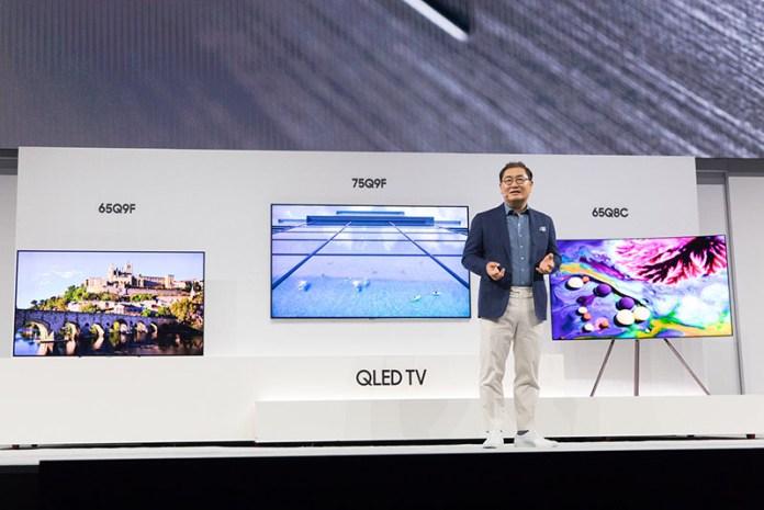 TV's QLED TV Smart TV's Jonghee Han, President of Visual Display Business Samsung Electronics The Wall microLED TV QLED Samsung