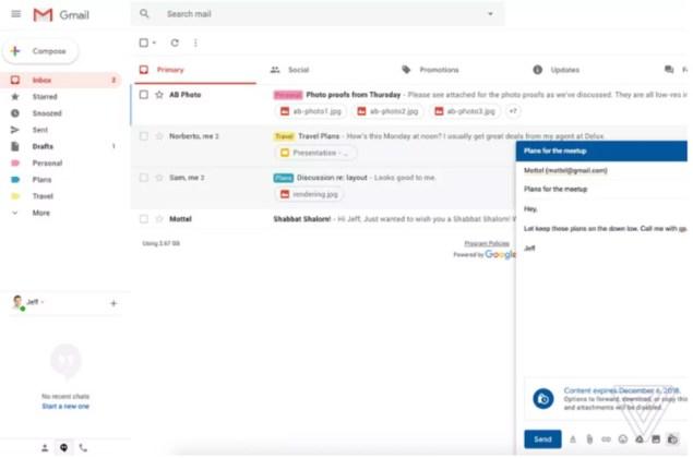 novo Gmail da Google