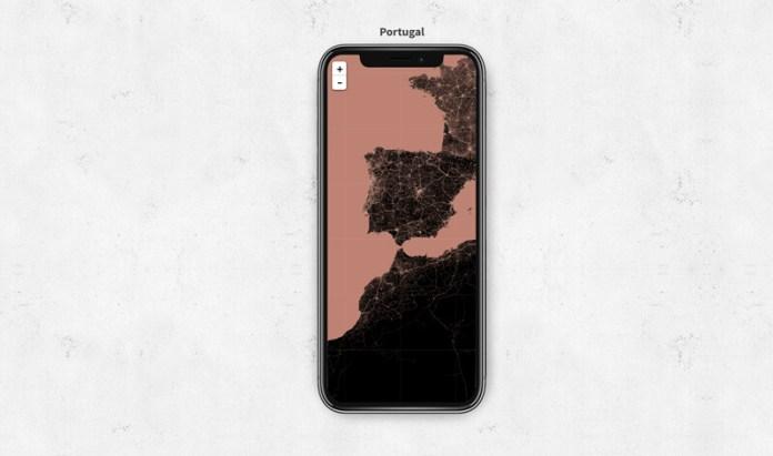 Cria um wallpaper minimalista com mapa mundo para Android e iPhone