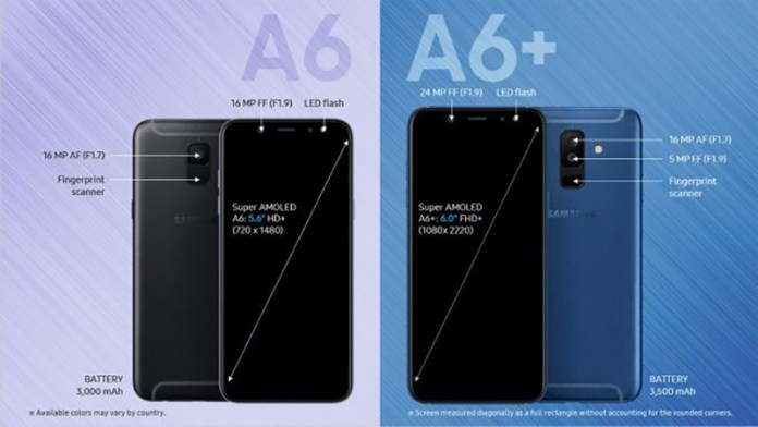 Android Samsung Galaxy A6 Plus Android Oreo