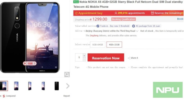 Nokia X6 Android Oreo iPhone X