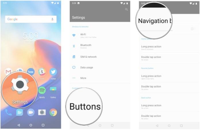OnePlus 6 Android Oreo Google gestos de navegação 1