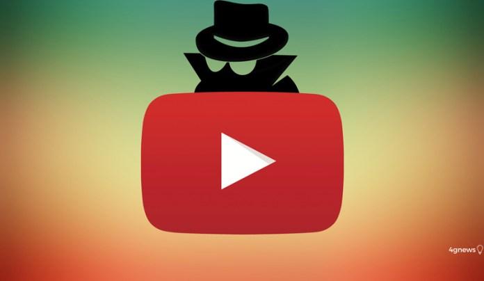 Google. Já podes ativar o modo anónimo no Youtube em Android
