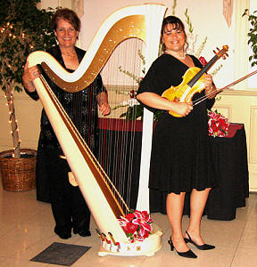 Margaret Atkinson, Harpist and Edina Pastyik, Violinist