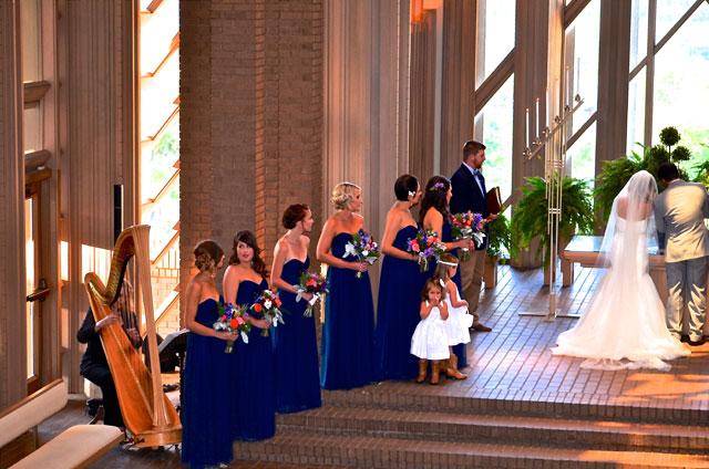 Dallas wedding harpist at Marty Leonard Chapel Ft. Worth