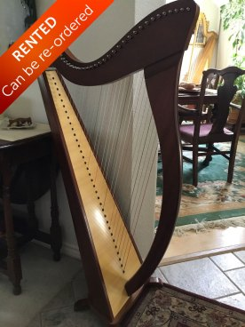 Camac Harp from France for sale front view - Rented with option to buy. Can be re-ordered
