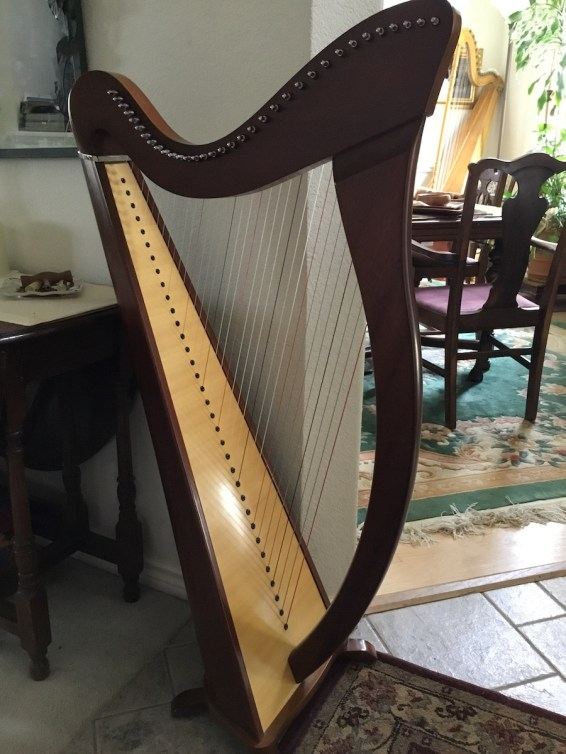 Camac Harp from France for sale front view