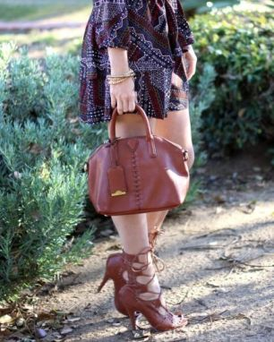 brown-lace-up-heels-with-autumn-colored-dress-1024x683