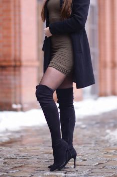 black-suede-long-boots-nylons-mini-dress