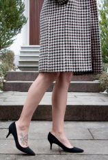 red-dress-women-february-heart-sheath-houndstooth-coat-office-style-11