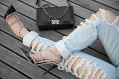 Chanel-Black-Lambskin-Boy-Bag-Valentino-Rockstud-Pumps-1