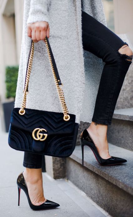 poshclassymom-nyc-time-square-manhattan-hm-satin-cami-mink-pink-long-sweater-cardigan-anine-bing-destroyed-jeans-christian-louboutin-so-kate-gucci-velvet-marmont-bag-8