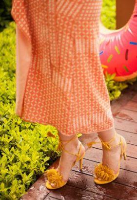 Yelllow_blogger dress sante shoes sandals at gloria serinity hotel