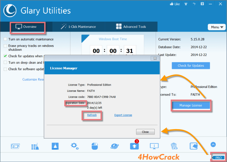 Glary Utilities Pro 5.112.0.137 Crack With Key Download | 4HowCrack